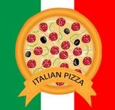 Pizza italiana Fotografia Stock Libera da Diritti