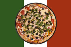 Pizza italiana da bandeira Fotografia de Stock Royalty Free