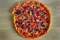 Pizza italiana dal napoli Fotografie Stock