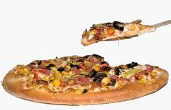 Pizza italiana de serviço Foto de Stock Royalty Free