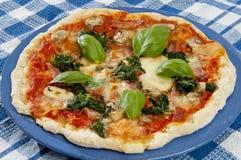 Pizza italiana di recente al forno Fotografie Stock Libere da Diritti
