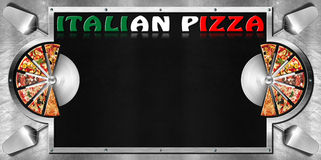Pizza italiana - diseño del menú Fotos de archivo