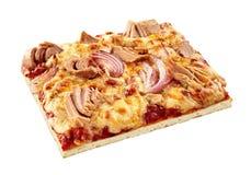 Pizza italiana do marisco com atum e cebola imagens de stock