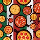 A pizza italiana flavors o teste padrão Foto de Stock Royalty Free