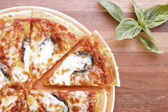 Pizza italiana para o vegetariano Imagem de Stock