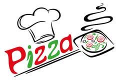 Pizza, italienisches Lebensmittel stockbild