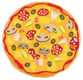 Pizza italienne illustration stock