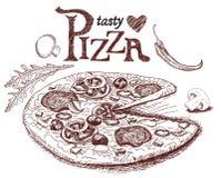 Pizza italienne délicieuse illustration de vecteur