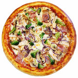 Pizza italienne d'isolement Photographie stock libre de droits