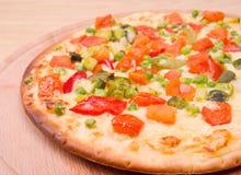 Pizza italienne de légumes. Neapolitano, plan rapproché Image libre de droits