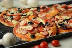 Pizza italienne Petites parties image libre de droits
