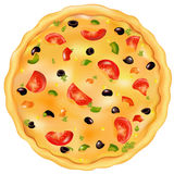Pizza italienne. Vecteur illustration libre de droits