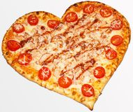 Pizza, jour du ` s de Valentine, jour du ` s de Valentine, amour de pizza Photo libre de droits