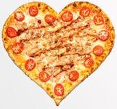 Pizza, jour du ` s de Valentine, jour du ` s de Valentine, amour de pizza Photographie stock