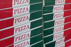 Pizza-Kästen Lizenzfreie Stockfotos