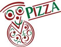 Pizza-Karikatur Lizenzfreie Stockfotografie