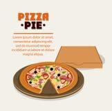 Pizza kartonu i kulebiaka pudełka projekt Fotografia Stock