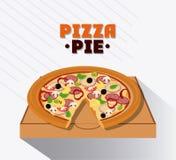 Pizza kartonu i kulebiaka pudełka projekt Fotografia Royalty Free