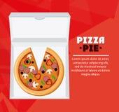Pizza kartonu i kulebiaka pudełka projekt Zdjęcia Royalty Free