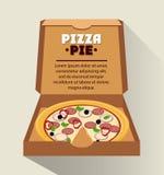 Pizza kartonu i kulebiaka pudełka projekt Obraz Royalty Free