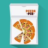 Pizza kartonu i kulebiaka pudełka projekt Obrazy Stock