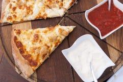 Pizza - kebab Fotografering för Bildbyråer