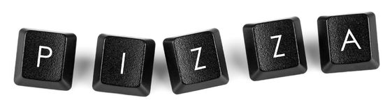 Pizza - Keyboard buttons Royalty Free Stock Photos