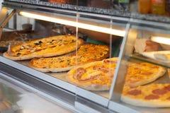 Pizza kiosk royalty free stock photo