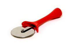 Pizza knife. Pizza red knife Stock Image