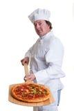 Pizza-Koch Stockbilder