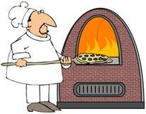 Pizza-Koch Stockbild