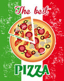 Pizza label Royalty Free Stock Images