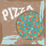 Pizza label Royalty Free Stock Photo