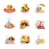 Pizza Label Set Royalty Free Stock Photography