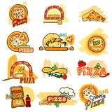 Pizza label tag sticker for Advertisement. Vector illustration of Pizza label tag sticker for Advertisement Royalty Free Stock Photo