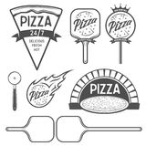 Pizza labels, badges and design elements. Vintage style. Royalty Free Stock Photography