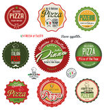 Pizza labels. Pizza retro labels  illustration Stock Photography