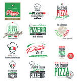 Pizza labels. Pizza retro labels  illustration Royalty Free Stock Photos