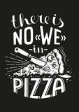 Pizza lettering Stock Photos