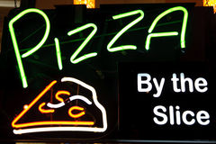 Pizza Light Sign Stock Photo
