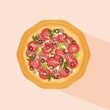 Pizza logo Obrazy Stock