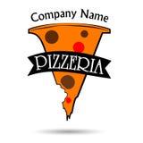 Pizza logo design royalty free illustration
