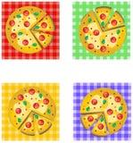 Pizza Logo Design Royalty-vrije Stock Afbeeldingen
