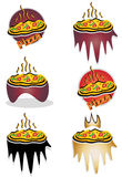 Pizza logo design. Can be used by companies Royalty Free Stock Image