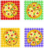 PIZZA logo design Royalty Free Stock Images