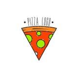 Pizza Logo Vector Fotografie Stock