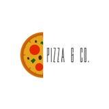Pizza Logo Vector Immagini Stock