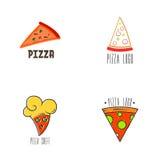 Pizza Logo Vector Fotografia Stock Libera da Diritti