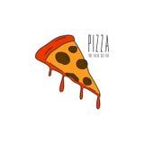 Pizza Logo Vector Fotografie Stock Libere da Diritti