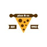 Pizza Logo Vector Immagini Stock Libere da Diritti